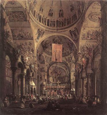 Canaletto. The Interior of San Marco Basillica