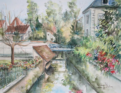 Watercolors by French Painter Daniel Chamaillard