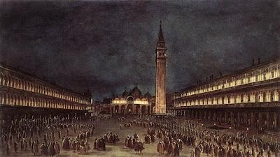 Francesco Guardi. Nighttime Procession in Piazza San Marco, 1758