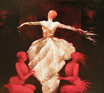 Anne Bachelier's Oil Painting. White Magic