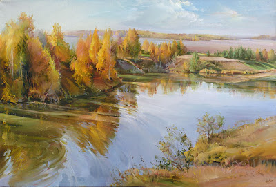 Russian Artist. Autumn Paintings