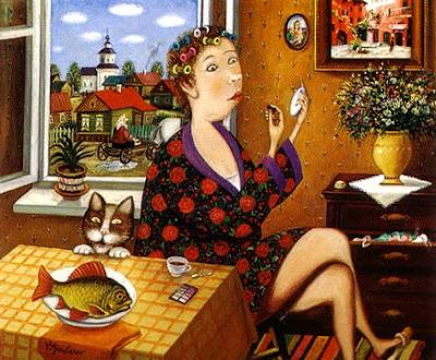 Valentin Gubarev's Paintings. Fish Day