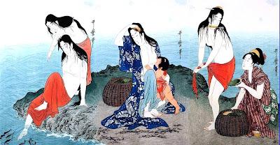 Kitagawa Utamaro. Ukiyo-e. The Divers