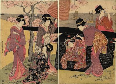 Kitagawa Utamaro. Ukiyo-e. The Palanquin