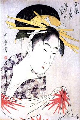 Kitagawa Utamaro. Ukiyo-e. A Courtesan