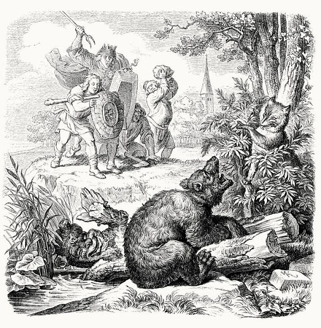Engraving. 'Reynard the Fox' Illustrations