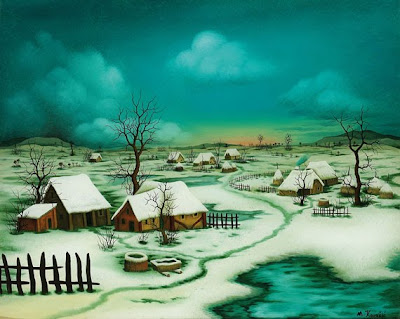 Naive Painting by Mijo Kovacic