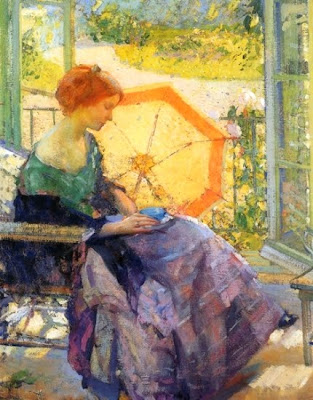 Painting by  Richard Emil Miller, American Impressionist