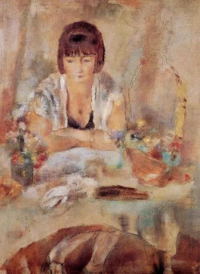 Jules Pascin. Portrait of Lucy at Table, 1928