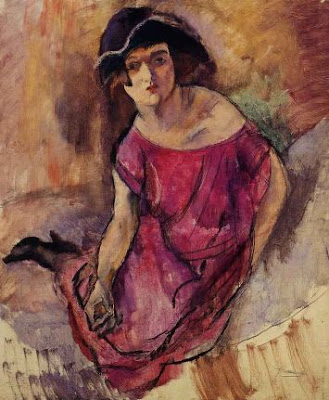 Jules Pascin. Beautiful English Girl, 1916