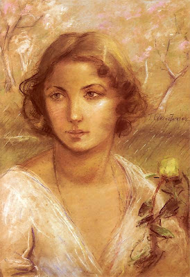 Lady with a Rose by Teodor Axentowicz