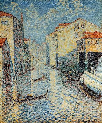 A Venetian Canal by Henri Edmond Cross