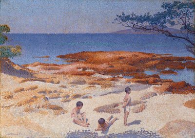 Beach at Cabasson, 1891 by Henri Edmond Cross