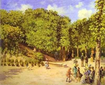 Landscape by Camille Pisarro. Town Garden in Pontoise, 1873