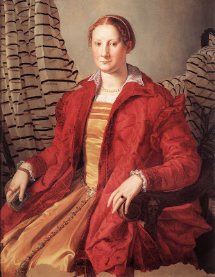Portraits of  Women of Italian Renaissance. Agnolo Bronzino. Portrait of a Lady, 1550