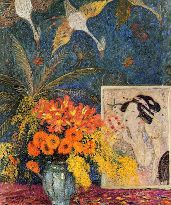Leon De Smet. Still Life. Vase of Flowers