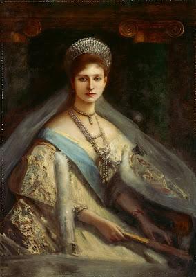 Albert von Keller. Empress Alexandra Fyodorovna of Russia, 1896
