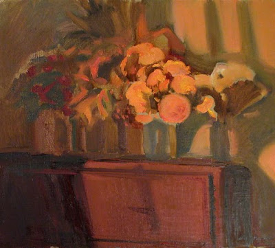 Painting by Russian Artist Ekaterina Reutova. Evening Bouquet