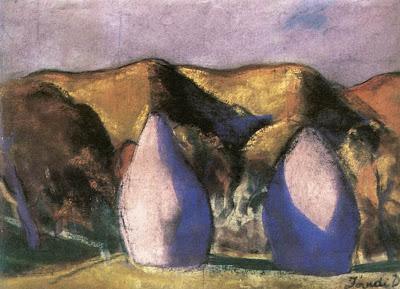 Jándi Dávid, Hungarian Artist. Haystacks