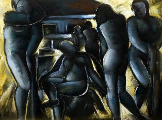 Jndi Dvid, Hungarian Artist. Nudes, 1937