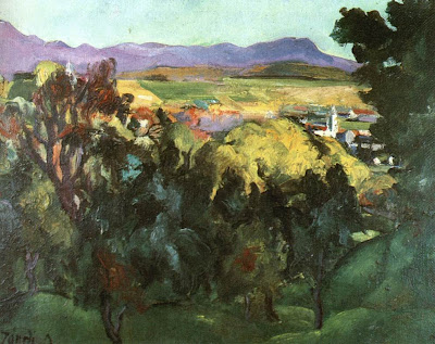 Jndi Dvid, Hungarian Artist. View of Nagybnya
