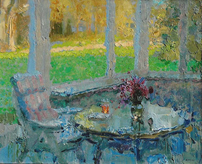 Painting by Zhang Jing Sheng. The Morning Sunlight