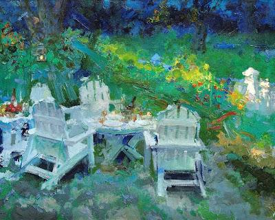 Zhang Jing Sheng's Paintings. Weekend Dusk