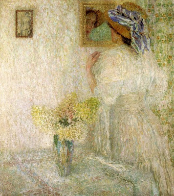 Leon De Smet's Paintings. Woman at the Mirror