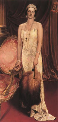Paintings by Leon De Smet. The Portrait of Queen Astrid (1935)