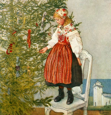 Carl Larsson. Christmas Tree Confetti