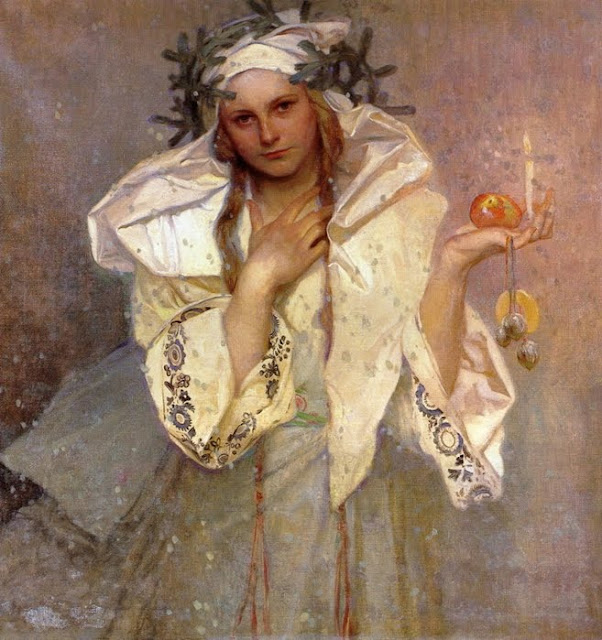 Alphonse Mucha. Christmas Paintings, Christmas in painting