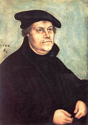 Lucas Cranach the Elder. Portrait of Martin Luther