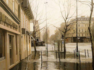Cityscape Painting by Russian Artist Peter Bezrukov