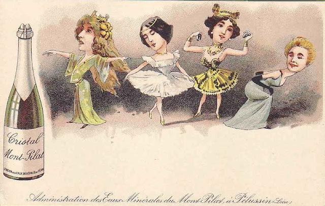 Sarah Bernhardt, Cléo de Mérode, la belle Otéro et Yvette Guilbert