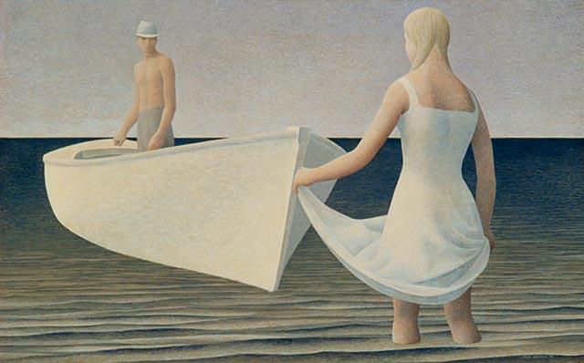 Ca s'est passé en août ! Woman,+Man,+and+Boat+++1952+temp