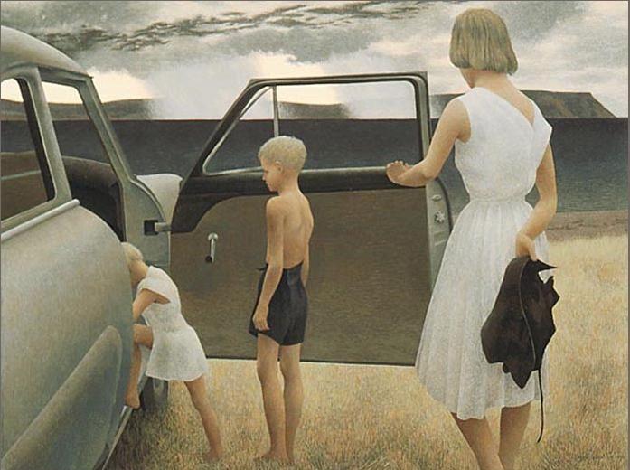 Ca s'est passé en août ! Family+and+Rainstorm+++1955