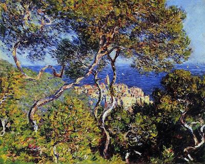 Seascape Painting by Claude Monet. Bordighera