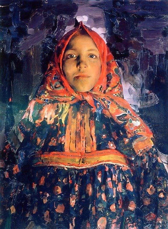Painting by Philipp Malyavin Russian Artist