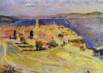 Seaside Painting by Henri Matisse, Vue sur Saint-Tropez, 1904