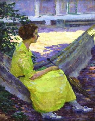 Hammock in  Painting Louise Eleanor Zaring