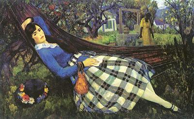 Hammock in  Painting Leon Kroll