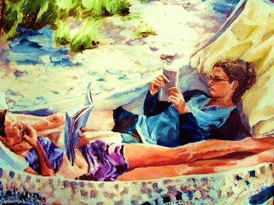 Hammock in  Painting Ellen Haffar