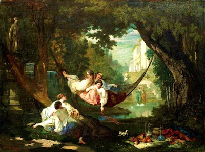 Hammock in  Painting Auguste-Barthélemy Glaize