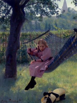 Hammock in  Painting Jules Octave Triquet