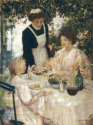 Genre Painting by Australian Impressionist Artist Emanuel Phillips Fox