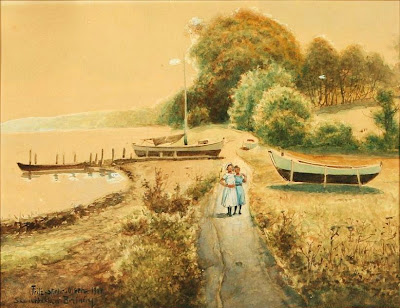 Scandinavian Summer Landscpe Painting Fritz Staehr-Olsen
