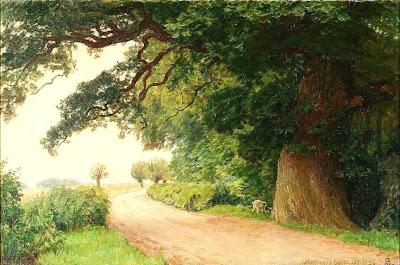 Scandinavian Summer Landscpe Painting Niels Skovgaard