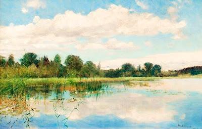 Scandinavian Summer Landscpe Painting Axel Lindman