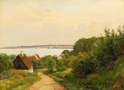 Scandinavian Summer Landscpe Painting Anders Andersen-Lundby