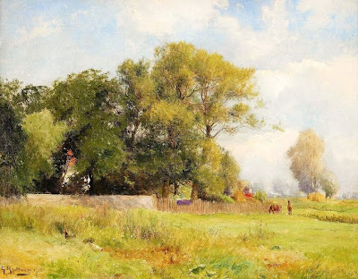 Scandinavian Summer Landscpe Painting Gustaf Rydberg